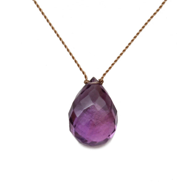 Amethyst Stone On A String