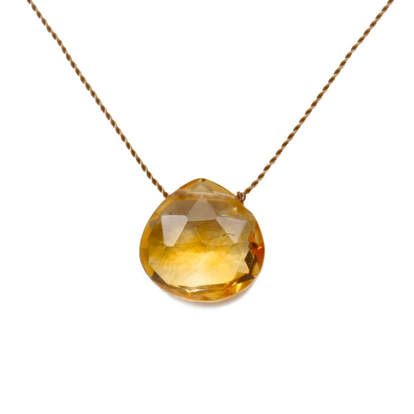Citrine Stone On A String
