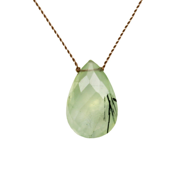 Prehnite Stone On A String
