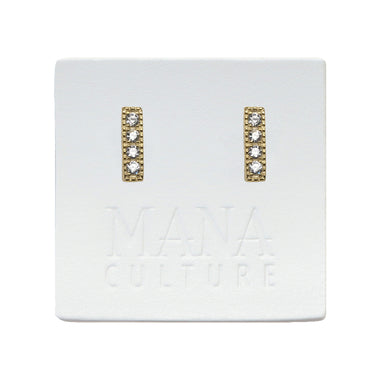 Pave Cz Bar Earrings