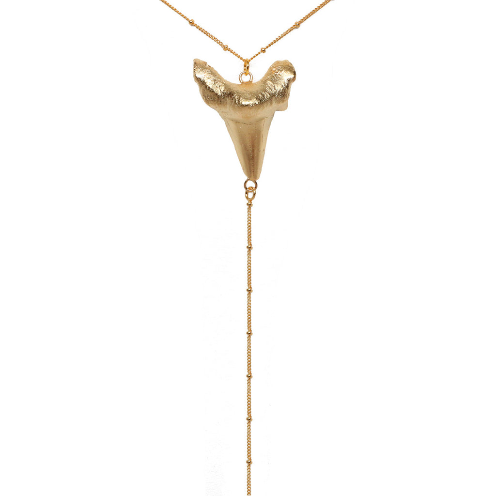Gold Shark Tooth Lariat