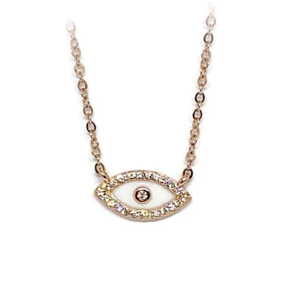Rose Gold Eye Necklace