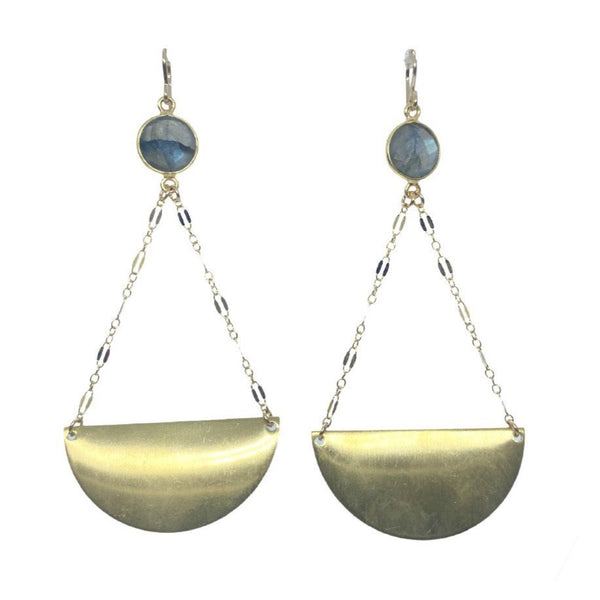 Labradorite Chain Drop Earring