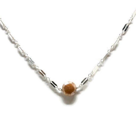 Peach Moonstone Choker