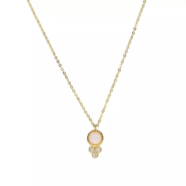 Dainty Opal Drop Necklace
