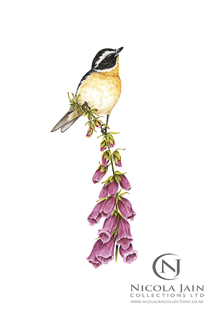 """Winchat on Foxglove"" Print"