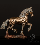 Limited Edition Mini Bronze Friesian Stallion