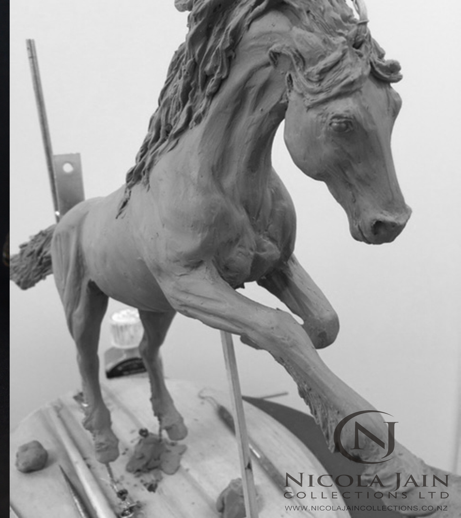 Work in Progress - Friesian Stallion