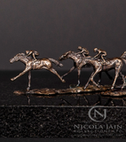 "Mini Bronze Horse Racing Sculpture ""Mini Racers"""