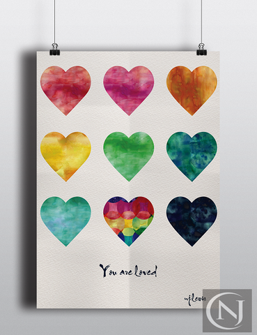 Childs Print - You are loved