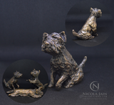Bronze Mini White Westie Series