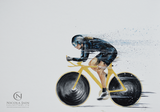 (SOLD) Female Cyclist - Original Painting
