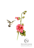 """Humm"" Humming Bird Print"