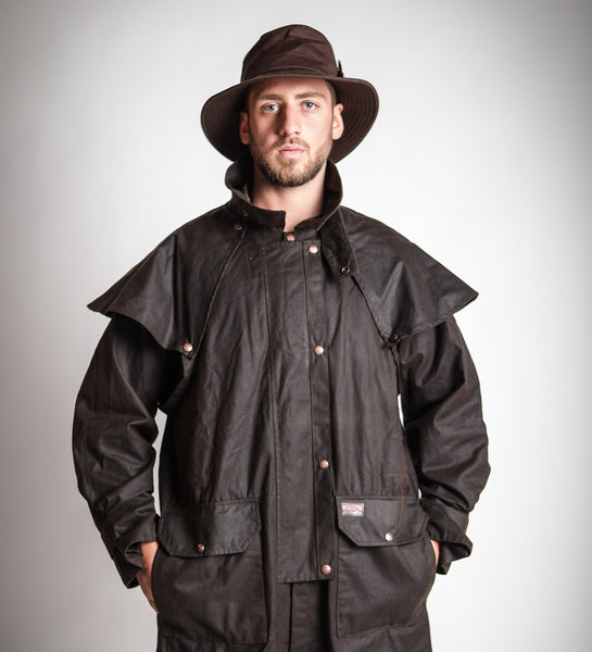 Oilskin riding coat