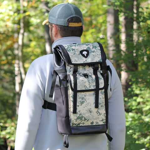 Model wearing the VEDAVOO Spinner Daypack