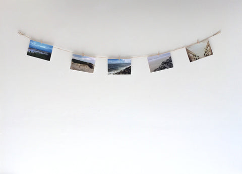 Horizontal Twine Photo Holder