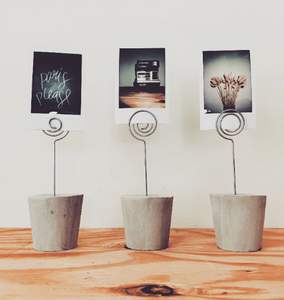 BUD | Concrete Photo Holder - Set of 3