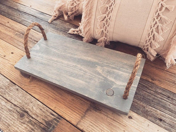 Bed Tray, Serving Tray, Lap Desk - Gray