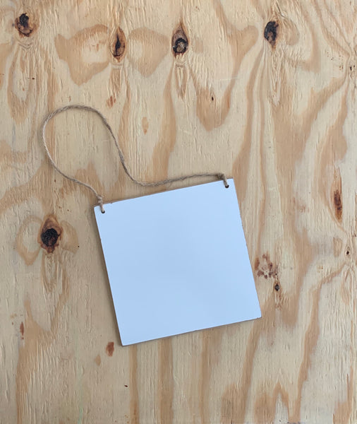 Hanging Whiteboard Sign - 7 x 7