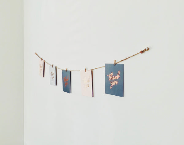 Horizontal Twine Photo Holder - Copper