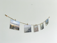 COVE | Copper Horizontal Twine Photo Holder