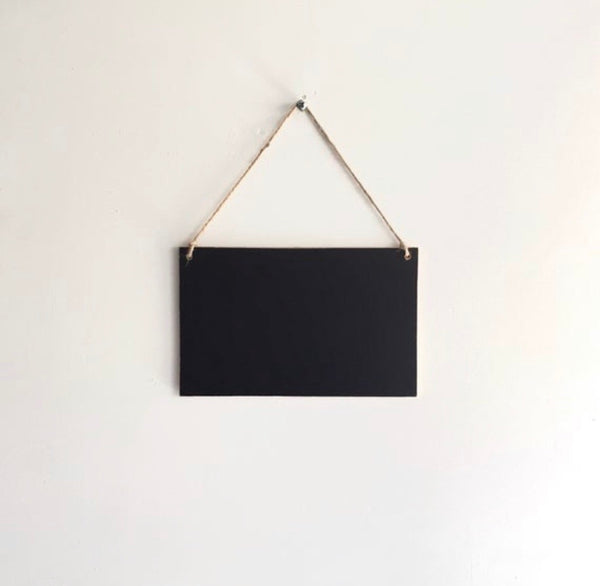 ASH | Hanging Chalkboard Sign
