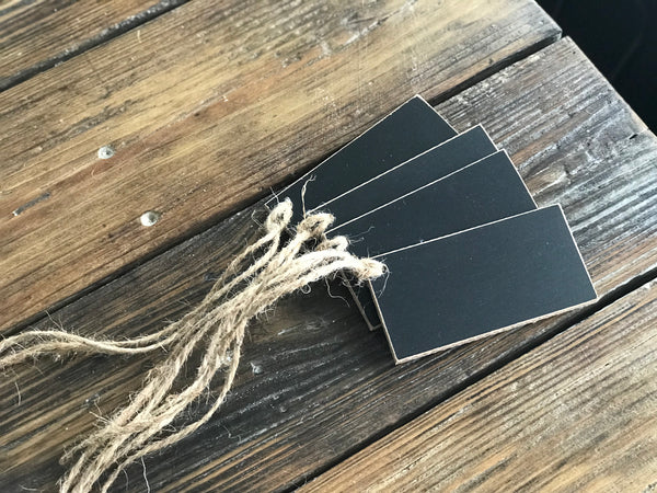 JAMES | Set of 4 Chalkboard Tags