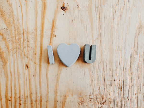 I Love You - Concrete Letter Set