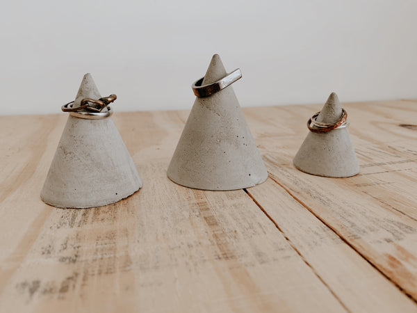 RING | Concrete Ring Holder - Set of 3