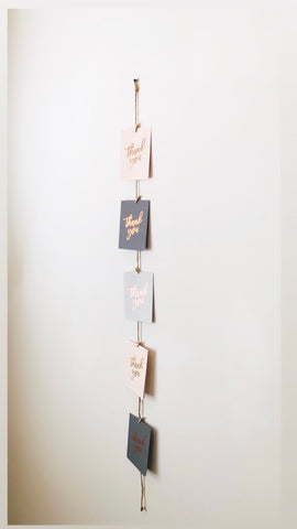 Vertical Twine Photo Holder - Copper