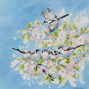 Long Tailed Tits In the Blossom Original