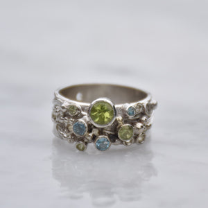 Inspiration Ring Peridot & Topaz