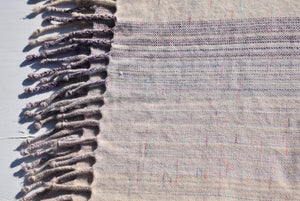 Hand Woven Lambswool & Angora Lavender Blanket