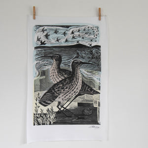 Two Curlews Teatowel