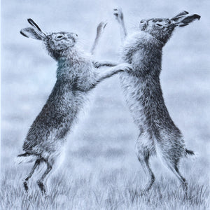 Boxing Hares Small