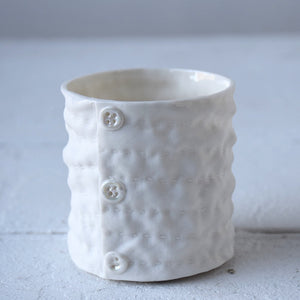 Button & Ruched Tealight Holder