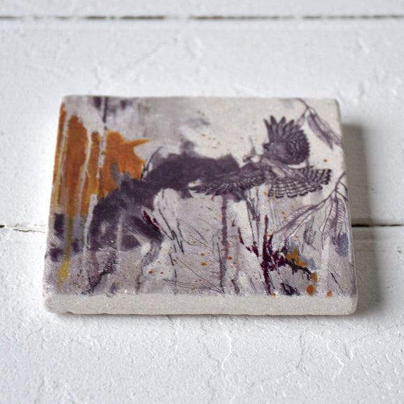 Red Footed Falcon Coaster