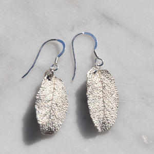Sage Leaf Earrings Large