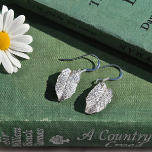 Sage Leaf Earrings Small