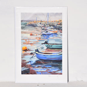Boats at the Safe print
