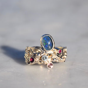 Twisted Opal Ring