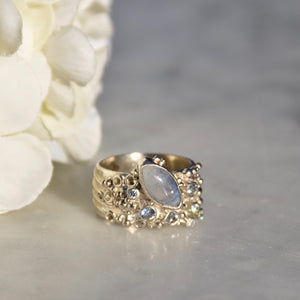 Moonstone & Tanzanite Ring