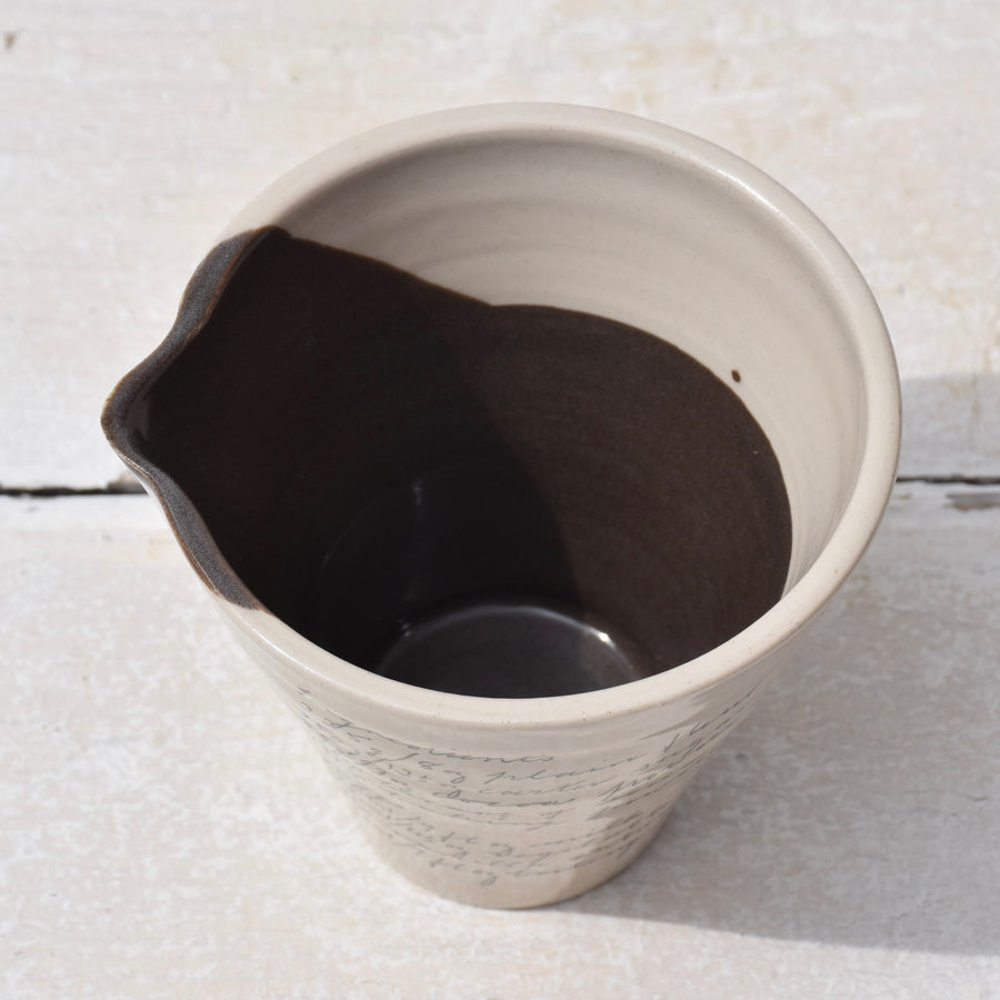 Dark Chocolate Brown Handheld Jug