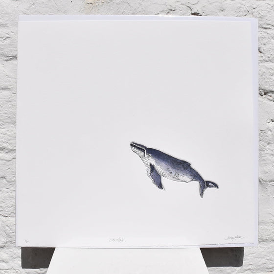Little Whale Mezzotint Unframed