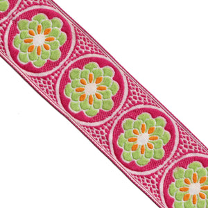 Embroidery Jacquard Woven Ribbon | Lucky Weaving Lace Co Ltd | M0390-01