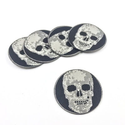 5 pieces jacquard skull iron-on patch | SKJP001 - Lucky Weaving Lace Co Ltd