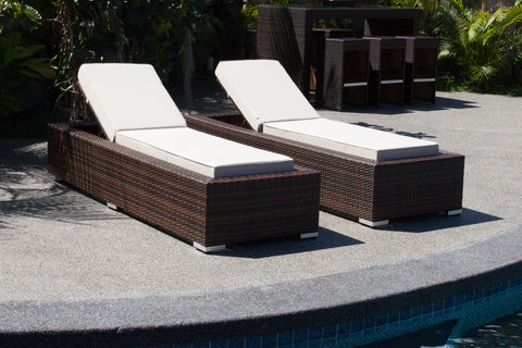 All-Weather Wicker Chaise Lounge