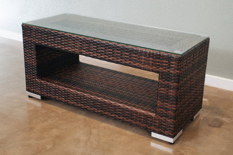 All-Weather Outdoor Wicker Coffee Table (Small)