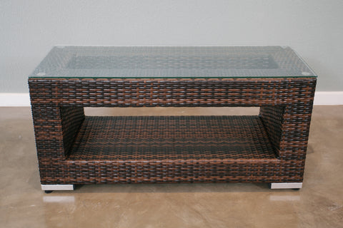 ... All Weather Outdoor Wicker Coffee Table (Small)