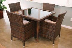 Maui 5-Piece All-Weather Wicker Patio Dining Set